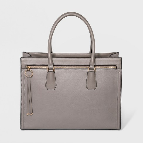 Ring Work Tote Bag - A New Day™ Gray - image 1 of 3