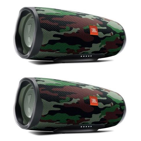 Jbl Charge 4 Waterproof Portable Wireless Bluetooth Speaker Bundle Pair Camouflage Target