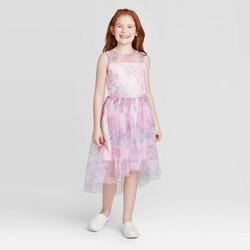 Zenzi Girls' Floral Dress -  Blush