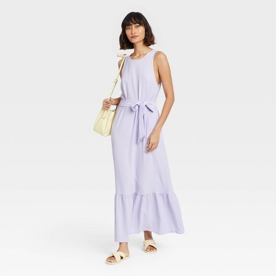 Women's Sleeveless Ruffle Hem Dress - A New Day™