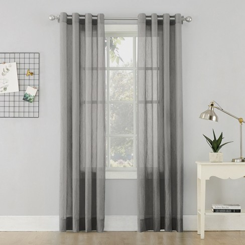 Erica Crushed Sheer Voile Grommet Curtain Panel - No. 918 - image 1 of 3