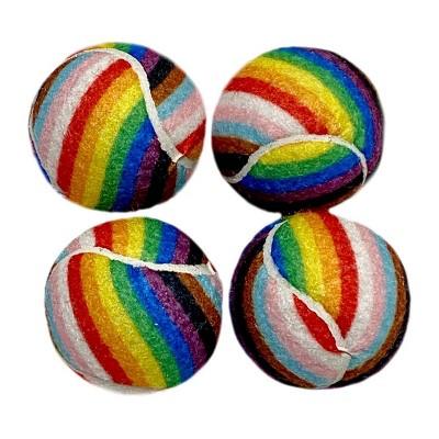"PrideTennis Balls Dog Toy - 2"" - 4pk - Boots & Barkley™"