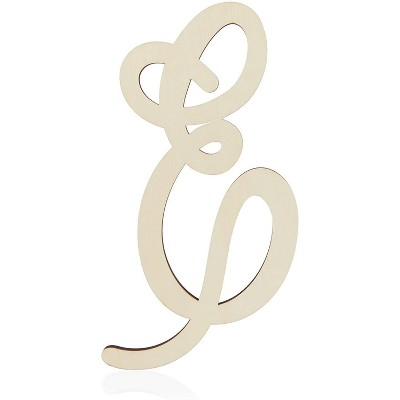 Unfinished Wood Monogram Letter E (13 in.)