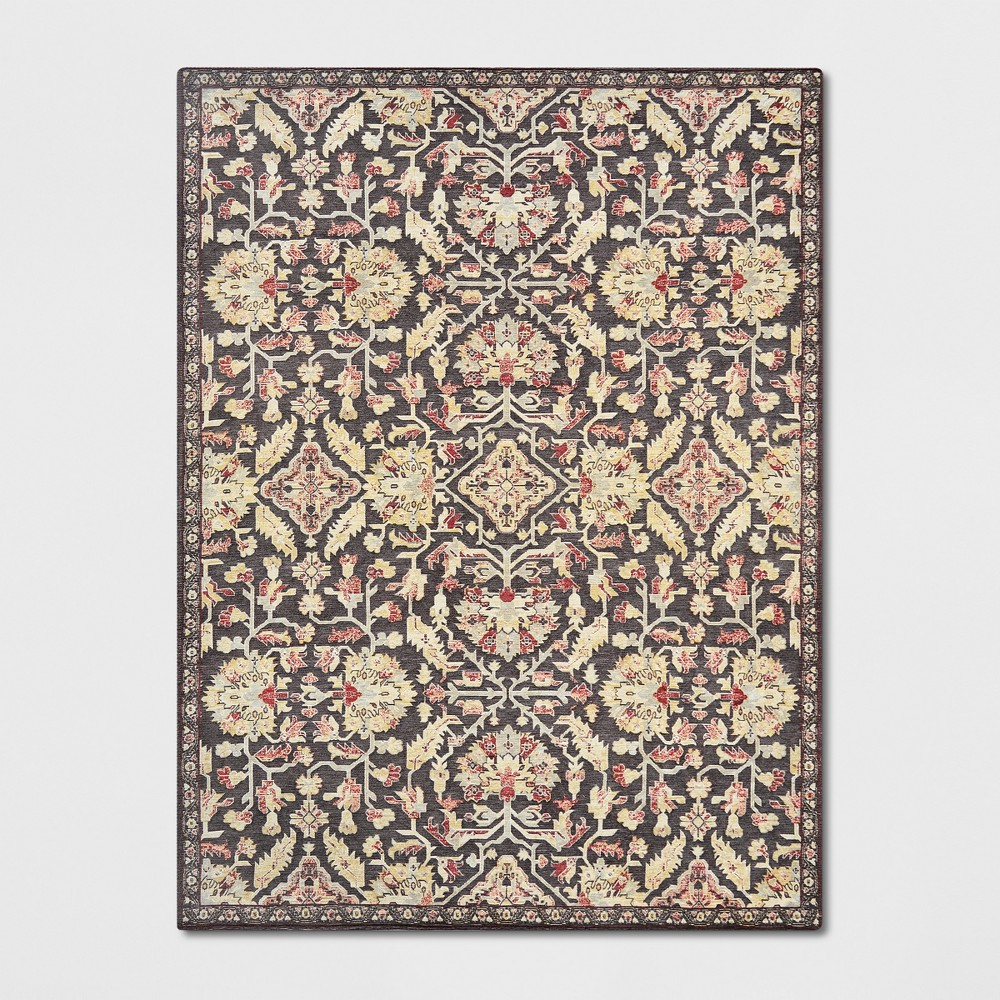 9 39 x12 39 Duffield Chenille Tapestry Persian Floral Woven Area Rug Threshold 8482