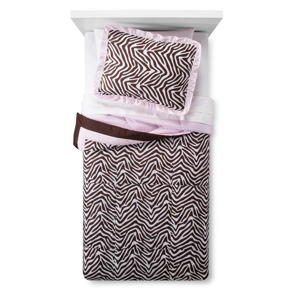 Image of Zara Zebra Comforter Set Twin - Pam Grace Creations, Brown