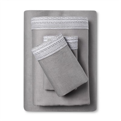 100% Linen Sheet Set (King)Skyline Gray - Fieldcrest®