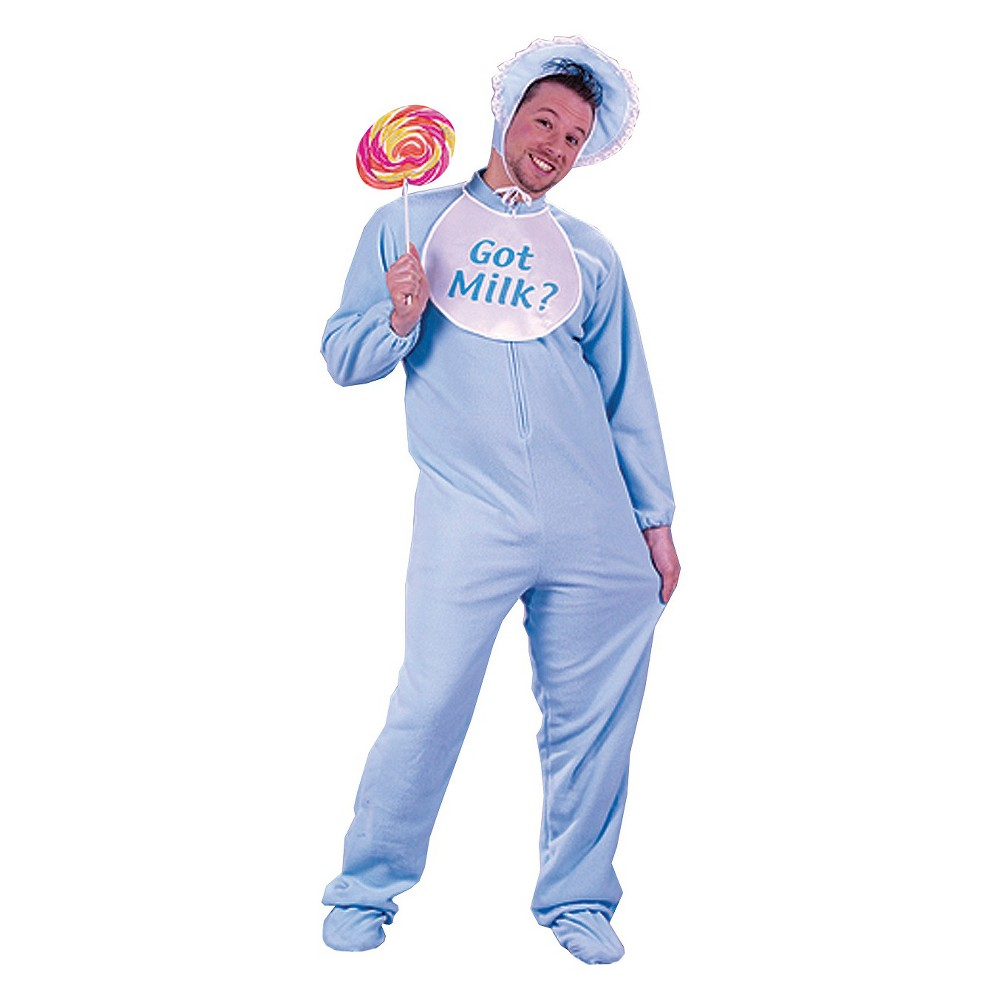Adult Baby Costume Blue One Size, Adult Unisex