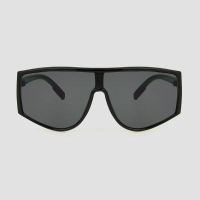 Women's Shield Sunglasses with Smoke Lenses - All in Motion™ Black