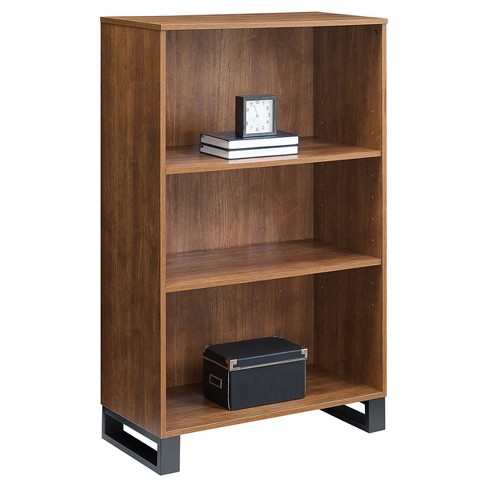 Tavia 3 Shelf Bookcase 48 Light Walnut Whalen