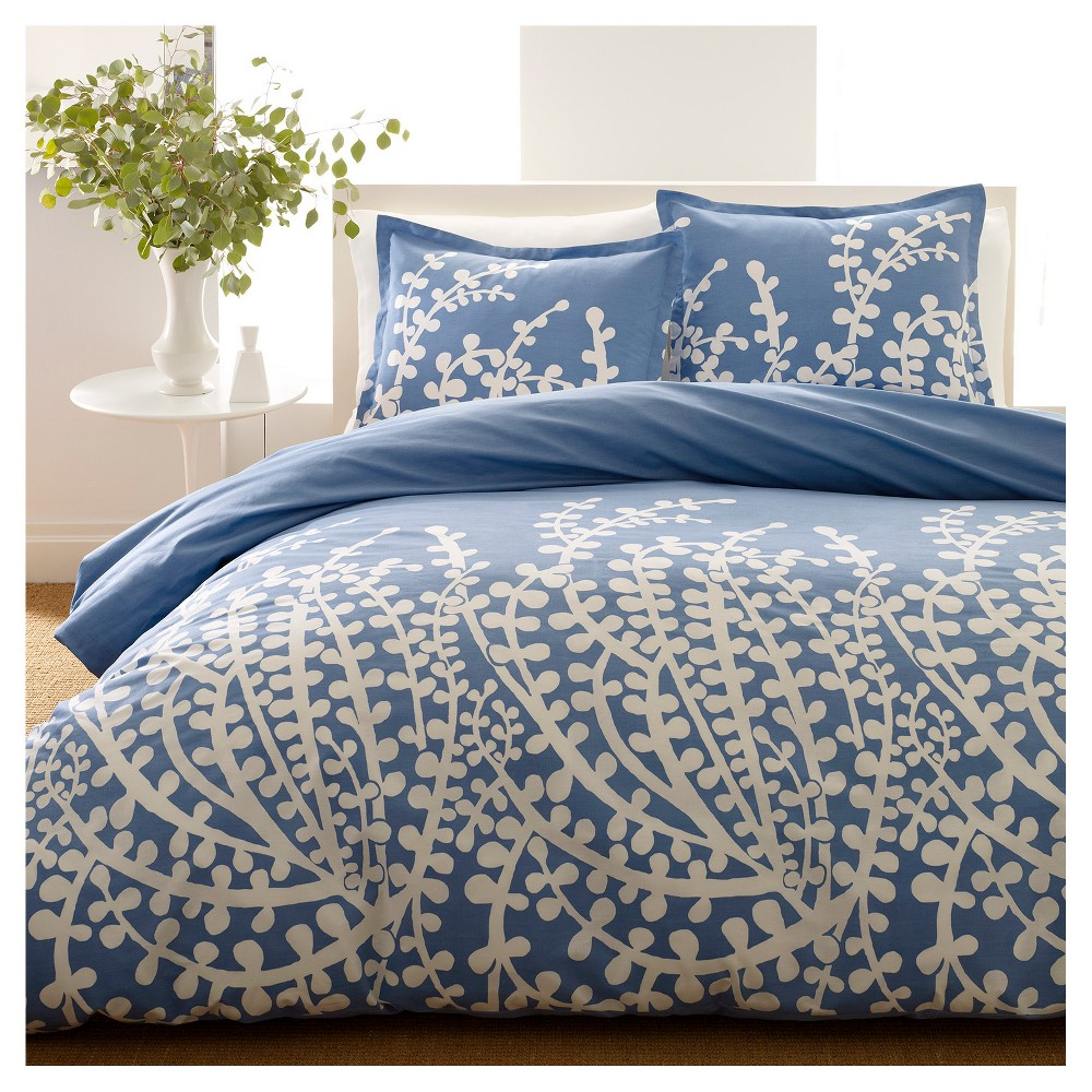 Image of Branches Comforter And Sham Set Full/Queen French Blue - City Scene