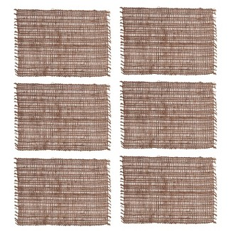 C&F Home Eyelet Loom Cocoa Placemat Set Of 6 : Target