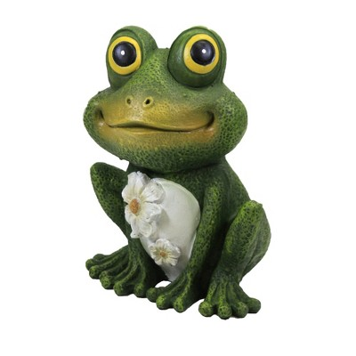 """Home & Garden 6.0"""" Mini Frog Painted Critter Landscape Accent Roman, Inc  -  Outdoor Sculptures And Statues"""