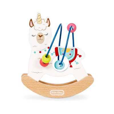 Wooden Critters Busy Beads - Llama-corn