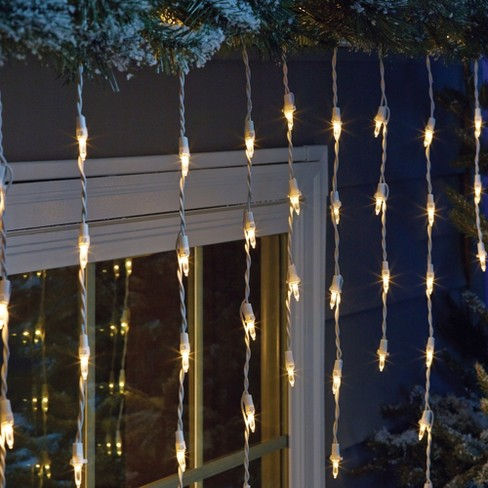 philips 175ct christmas led icicle string lights warm white ww target
