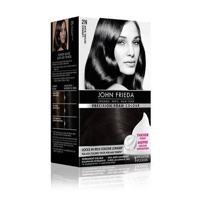 John Frieda Precision Foam Colour - 1 kit, 2N Luminous Natural Black