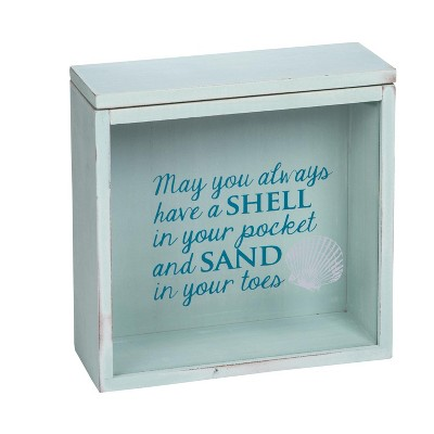 Shells and Sand Wooden Shadow Box - Foreside Home & Garden