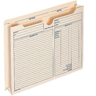 Adams Pre-Printed File Pockets 2 Expansion 9294E