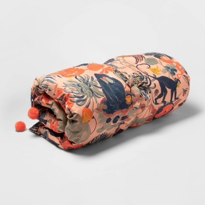 Coral Jungle Print Chaise Lounge Pillow - Opalhouse™