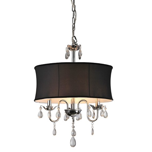 "Warehouse Of Tiffany Ceiling Lights - Black (20 X 20 X 10"") - image 1 of 1"