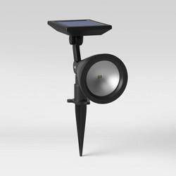LED High Lumen Solar Spotlight Black - Threshold™