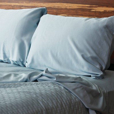300 Thread Count 100% Rayon from Bamboo Solid Pillowcase Set - BedVoyage