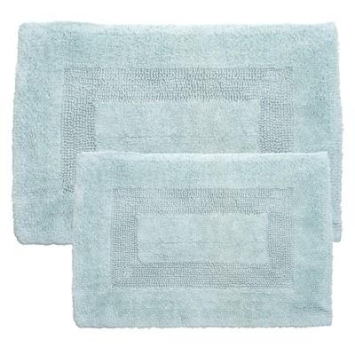 2pc Solid Bath Mat Set Aqua - Yorkshire Home