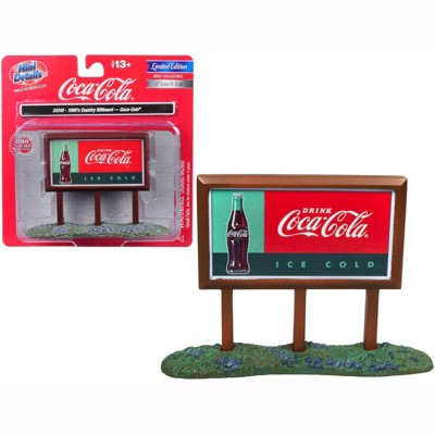 """1960's Country Billboard """"Coca-Cola"""" for 1/87 (HO) Scale Models by Classic Metal Works"""