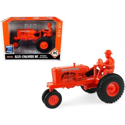 """Allis-Chalmers WC Tractor Red with Diecast Farmer Figurine """"ERTL 75th Anniversary"""" (1945-2020) 1/16 Diecast Model by ERTL TOMY"""