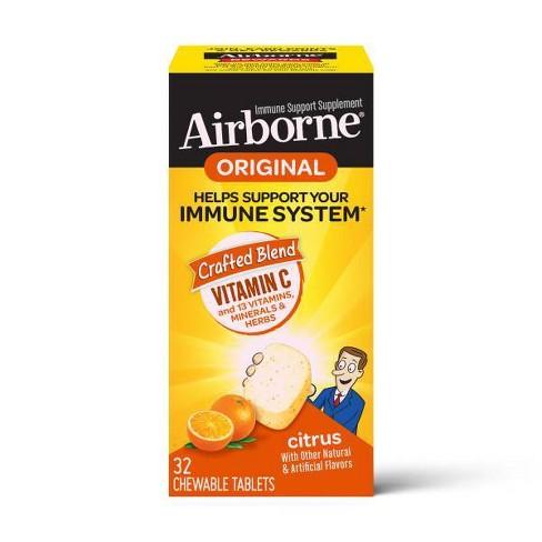 Airborne Immune Support Supplement Chewables - Citrus - image 1 of 4
