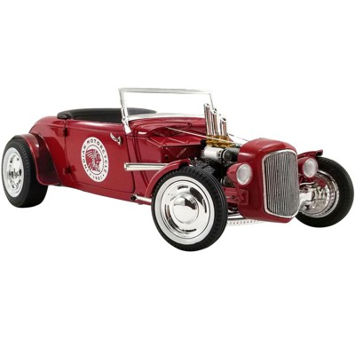 """1934 Hot Rod Roadster Red """"Indian Motorcycle"""" Limited Edition to 504 pieces Worldwide 1/18 Diecast Model Car by GMP"""