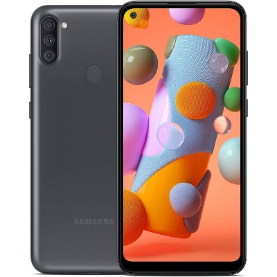 Samsung Galaxy A11 32Gb ROM 2GB RAM A115 GSM Unlocked Smartphone - Manufacturer Refurbished - Black