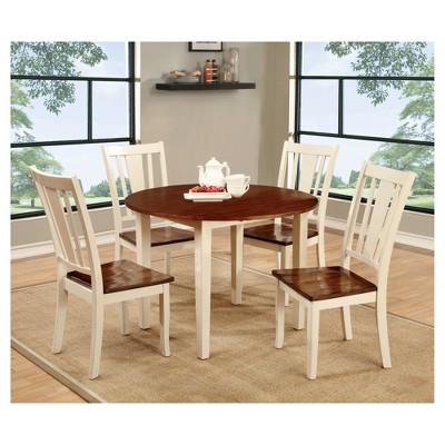 Astounding 9 Piece Curved Edge Dining Table Set Wood Cherry And Vintage Inzonedesignstudio Interior Chair Design Inzonedesignstudiocom