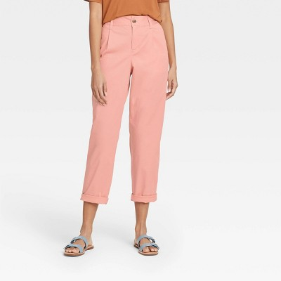 Women's High-Rise Pleat Front Straight Leg Ankle Pants - A New Day™