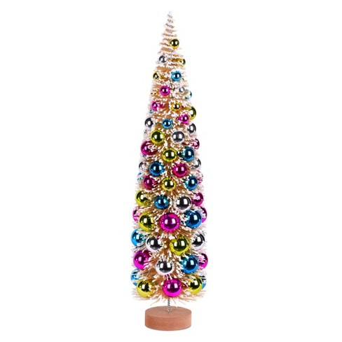 """Vickerman 24"""" Vintage Tabletop Frosted Gold Tree, Multi-colored Ornament - image 1 of 1"""