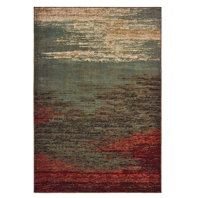 Lola Distressed Abstract Rug Blue/Brown