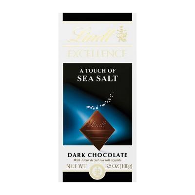 Lindt Excellence Sea Salt Dark Chocolate Bar  - 3.5oz
