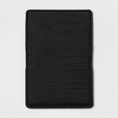 heyday™ Cell Phone Wallet Pocket with MagSafe - Black Croc