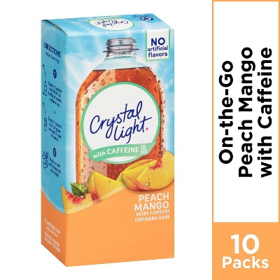 Crystal Light On the Go Peach Mango Energy Drink Mix - 10pk/0.07oz Stix