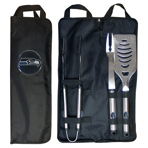 quite nice d8810 2c98c Siskiyou NFL Team 3-Piece BBQ Set with Canvas Case -Seattle Seahawks
