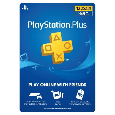 PlayStation Plus 12 Month Membership (Digital)