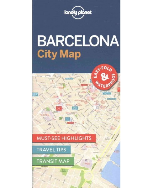 Lonely Planet Barcelona City Map (Paperback) - image 1 of 1