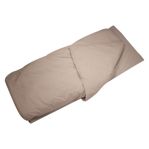 Disc-O-Bed Duvalay Large Luxury Memory Foam Sleeping Bag and Duvet - Cappuccino - image 1 of 4