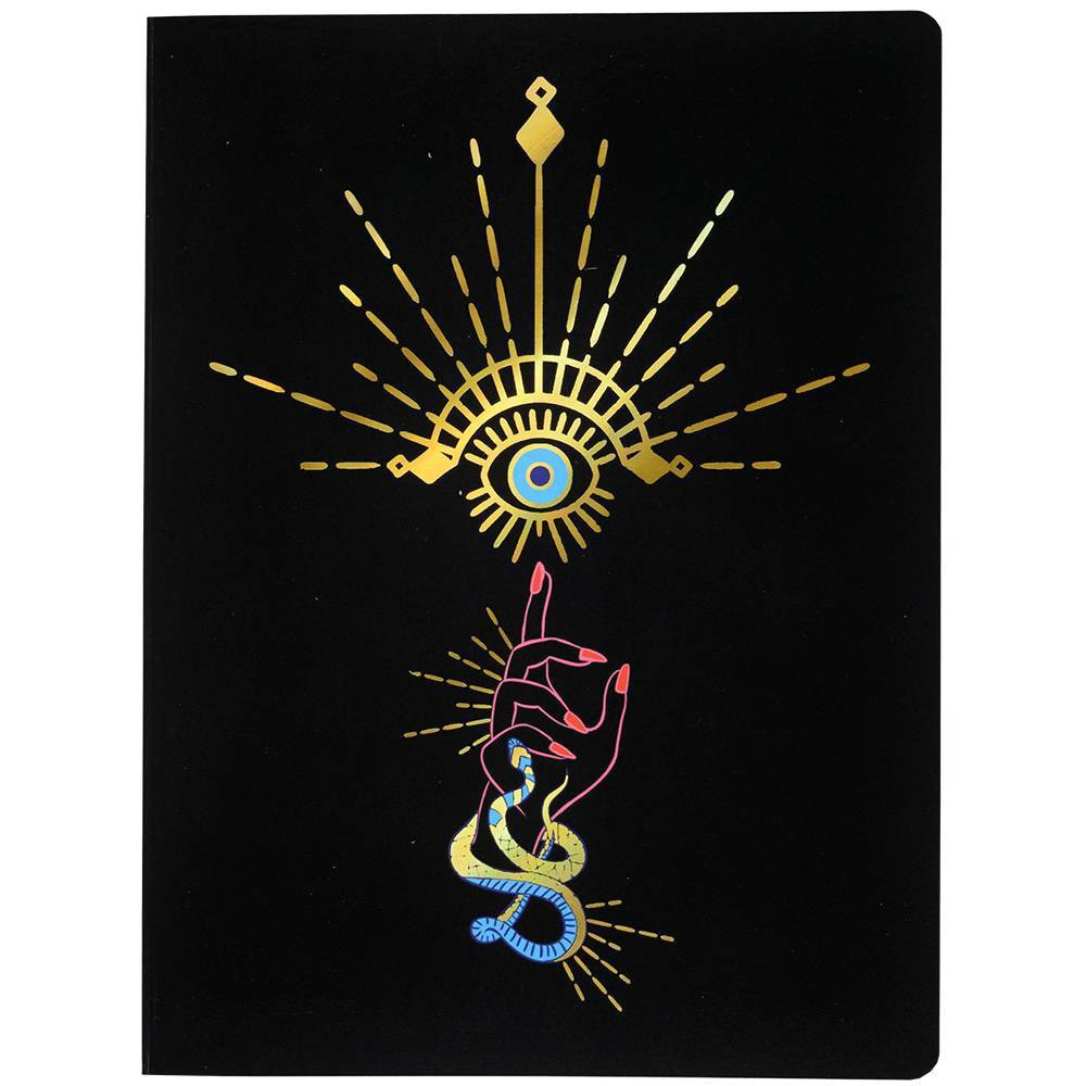 Image of Lined Journal Mystical Eye Softbound Golf Foil Accent and Ribbon Snake- Top Flight