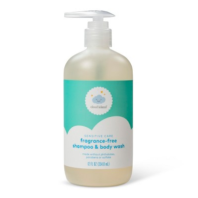 Baby Wash & Shampoo - Cloud Island™ Fragrance Free - 12 fl oz