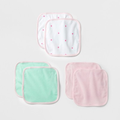 Baby Lightweight 6pk Washcloth Set Cloud Island™ - Pink/Mint