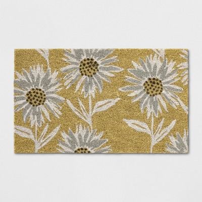 18 X30  Floral Tufted Doormats Sour Cream - Threshold™