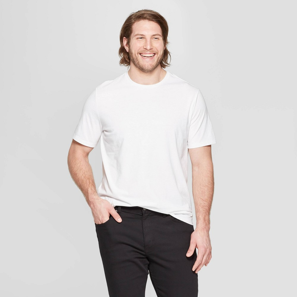 Men's Big & Tall Standard Fit Short Sleeve Lyndale Crew T-Shirt - Goodfellow & Co White 5XBT