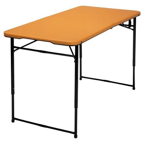 4 Indoor Outdoor Adjule Height Folding Tailgate Table Cosco