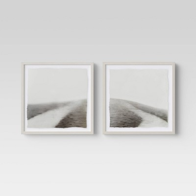 "(Set of 2)16"" x 16"" Path Framed Print - Threshold™"