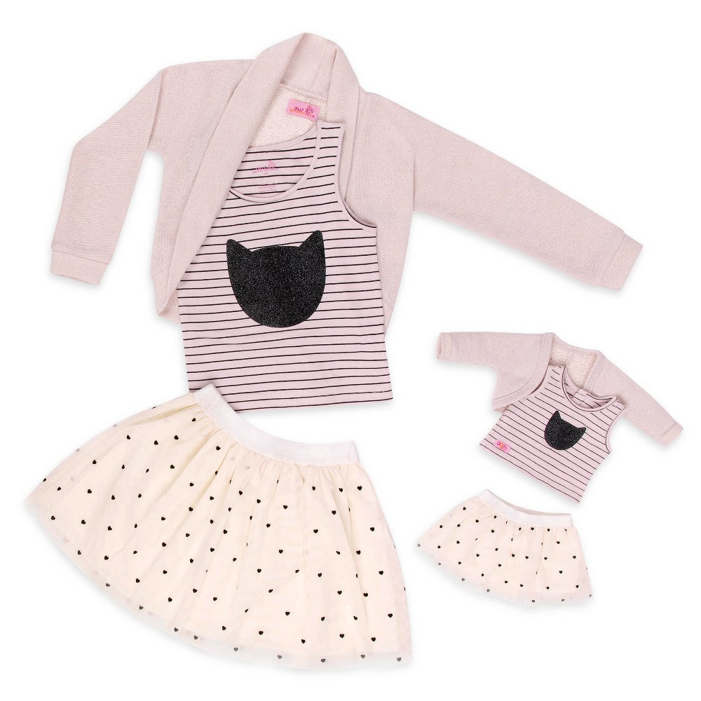 Our Generation You & ME Outfit - Heart Mesh Skirt Size 6-7
